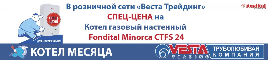 СПЕЦ-ЦЕНА на Котел газовый настенный Fondital Minorca CTFS 24