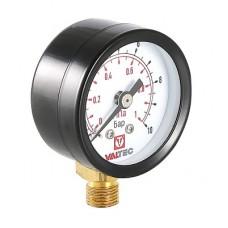 """Манометр VT.TM40 Dy 40 с нижним подключением 1/8"""",  0-10 бар (для подпиточного клапана)"""