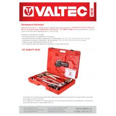 Новая позиция в базе - комплект ручного инструмента VALTEC, для монтажа надвижных фитингов. VT.1240.FT.1632