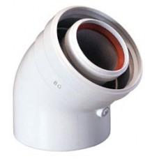 Коаксиальный отвод Baxi 45 град., диам. 60/100 мм, без муфты