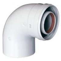 Коаксиальный отвод Baxi 90 град., диам. 60/100 мм