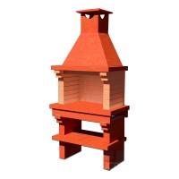Печь-барбекю АристократЪ (Saunday) 667,  шуба Red