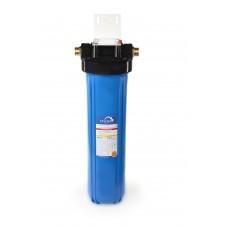 """Корпус Гейзер 20BB 1"""" синий для холодной воды, с латунными вставками"""