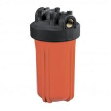 """Корпус Гидротек ВВ 10""""x1"""" оранж., для горячей воды (латунные вставки)"""