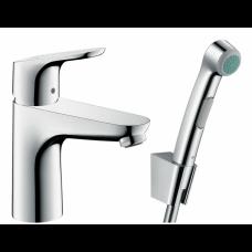Смеситель для раковины Hansgrohe Focus, с гигиеническим душем, хром