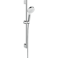 Душевой гарнитур Hansgrohe Crometta Vario со штангой 65 см белый/хром