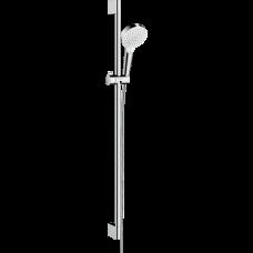 Душевой гарнитур Hansgrohe Crometta Vario со штангой 90 см белый/хром