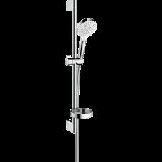 Душевой гарнитур Hansgrohe Crometta Vario со штангой 65 см и мыльницей белый/хром
