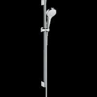 Душевой гарнитур Hansgrohe Croma Select S Vario со штангой 90 см белый/хром