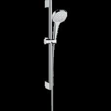 Душевой гарнитур Hansgrohe Croma Select E Multi со штангой 65 см белый/хром