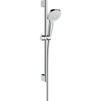 Душевой гарнитур Hansgrohe Croma Select E Vario со штангой 65 см белый/хром