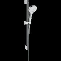 Душевой гарнитур Hansgrohe Croma Select E 1jet со штангой 65 см белый/хром