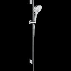 Душевой гарнитур Hansgrohe Croma Select E Multi со штангой 90 см белый/хром