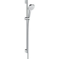 Душевой гарнитур Hansgrohe Croma Select E Vario со штангой 90 см белый/хром