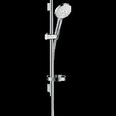 Душевой гарнитур Hansgrohe Raindance Select S 120 3jet со штангой 65 см и мыльницей белый/хром