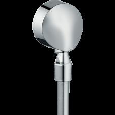 """Шланговое подсоединение Hansgrohe Fixfit E, 1/2"""", c клапаном обр. тока и шарнирным соед., хром"""