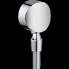 """Шланговое подсоединение Hansgrohe Fixfit S, 1/2"""", с клапаном обр. тока и шарнирным соед., хром"""