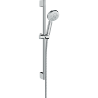 Душевой гарнитур Hansgrohe Crometta 100 Vario со штангой 65 см белый/хром