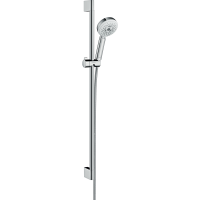 Душевой гарнитур Hansgrohe Crometta 100 Multi со штангой 90 см белый/хром