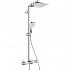 Душевая система Hansgrohe Crometta E 240 Showerpipe с термостатом д/душа, верхний и руч.душ, хром