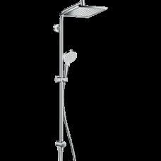Душевая система Hansgrohe Crometta E Showerpipe EcoSmart 240 верхний и ручной душ, хром