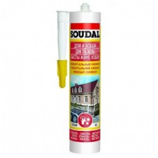 Герметик Soudal силиконовый универсальный белый 15*300 мл