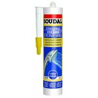 Герметик Soudal силиконовый санитарный белый 15*300 мл