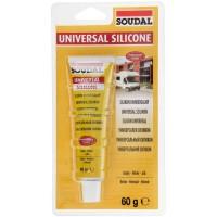 Герметик Soudal силиконовый универсальный белый 12*60 гр (в блистерах)