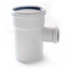 Тройник канализационный двухраструбный Uponor Decibel пп 110х50х88,5* белый