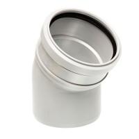 Отвод канализационный однораструбный Uponor Decibel пп 110 х 15* белый