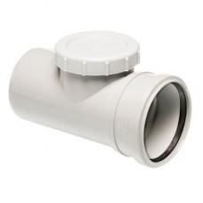 Патрубок для прочистки однораструбный Uponor Decibel пп 110мм белый