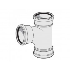 Тройник канализационный трехраструбный Uponor Decibel пп 110х110х45*
