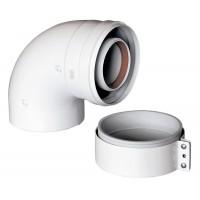 Коаксиальный отвод 90° Gekon, диам. 60/100 мм