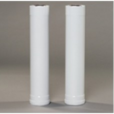 Труба Gekon нержавеющая сталь, диам. 80 мм, L1000 мм, белый