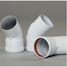 Отвод 135° Gekon нержавеющая сталь, диам.80 мм, белый