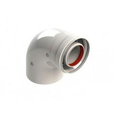 Отвод коаксиальный 90° M/F d60/100 для конденсационных котлов