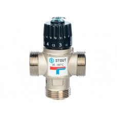 """STOUT Термостатический смесительный клапан для сиcтем отопления и ГВС 1"""" НР 35-60°С KV 2,5"""