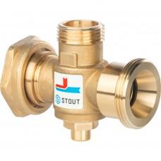 """STOUT Термостатический смесительный клапан G 1""""1/2M-G 1""""1/2F-G 1""""M 60°С"""