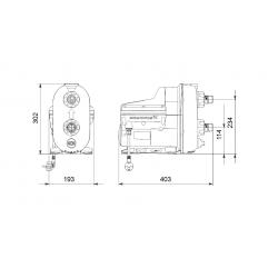 Комплектная установка с частотным регулированием Grundfos SCALA2 3-45 ,0.55кВТ