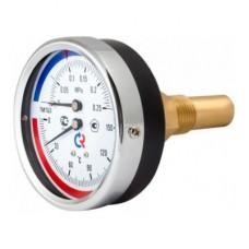 """Термоманометр ТМТБ-31T Dy 80 с задним подключением 1/2"""", 10 бар 0-120*"""