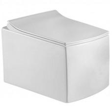 Подвесной унитаз Sole LINE, безободковый, сид. дюропласт, Soft-close, slim lift
