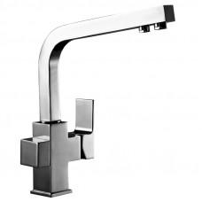 Смеситель однозахватный (35мм)  для кухни c подключением к фильтру с питьевой водой, хром