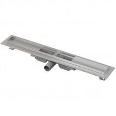 Канал дренажный стальной  заниженный ALCAPLAST 650*60 д.50мм APZ101-650 без решетки