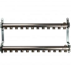 STOUT Коллектор из нержавеющей стали для радиаторной разводки 12 вых.