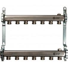 STOUT Коллектор из нержавеющей стали для радиаторной разводки 7 вых.