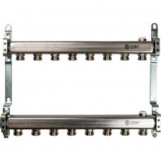 STOUT Коллектор из нержавеющей стали для радиаторной разводки 8 вых.