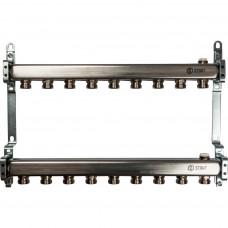 STOUT Коллектор из нержавеющей стали для радиаторной разводки 9 вых.