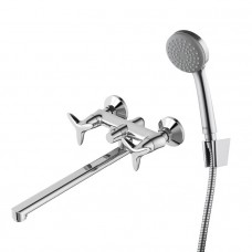 Смеситель для ванны с длинным изливом с керамическим дивертором Iddis Copter