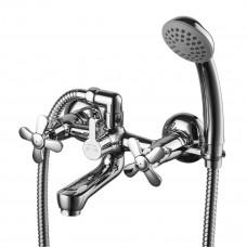 Смеситель для ванны Lemark Partner, двуручный, с коротким изливом, дивертор с кер. пластинами