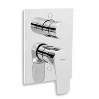 Смеситель для монтажа в стену с переключателем на душ Novaservis TITANIA NICE